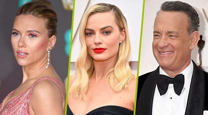 Margot Robbie, Scarlett Johansson, Tom Hanks