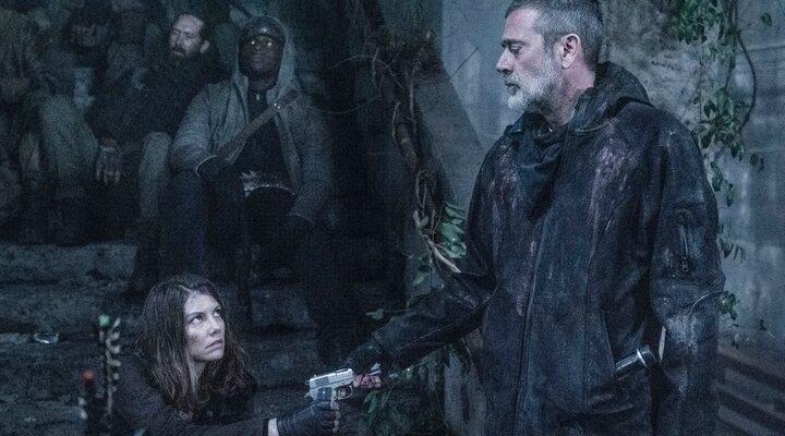 Negan y Maggie en 'The Walking Dead'