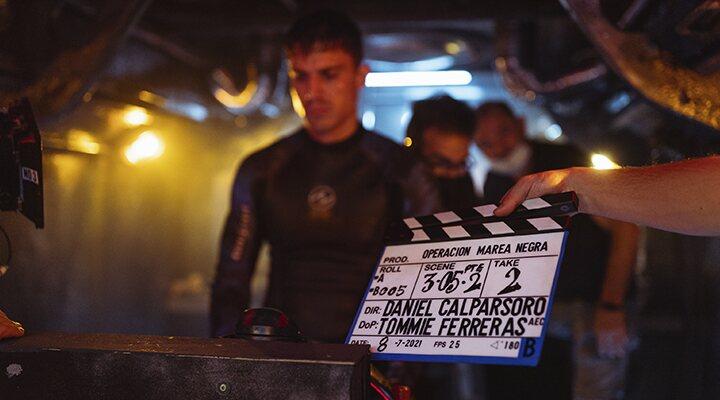 Álex González en el rodaje de 'Operación Marea Negra'