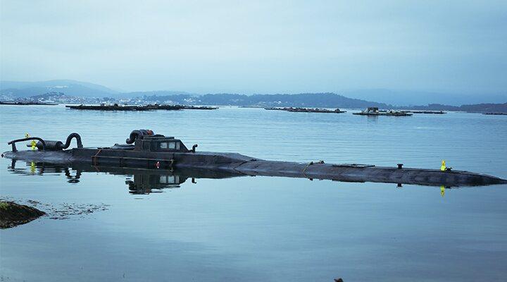 Reconstrucción del narcosubmarino en 'Operación Marea Negra'