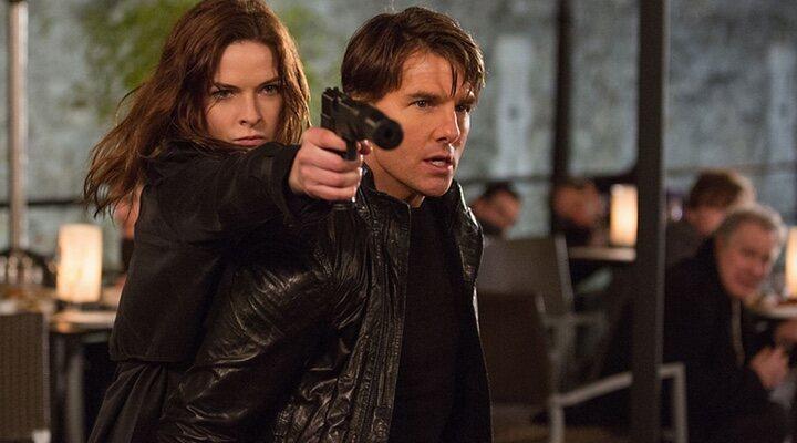 Rebecca Ferguson y Tom Cruise en 'Misión Imposible: Fallout' (2018)