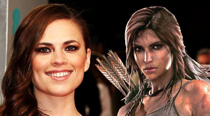 Hayley Atwell y Lara Croft