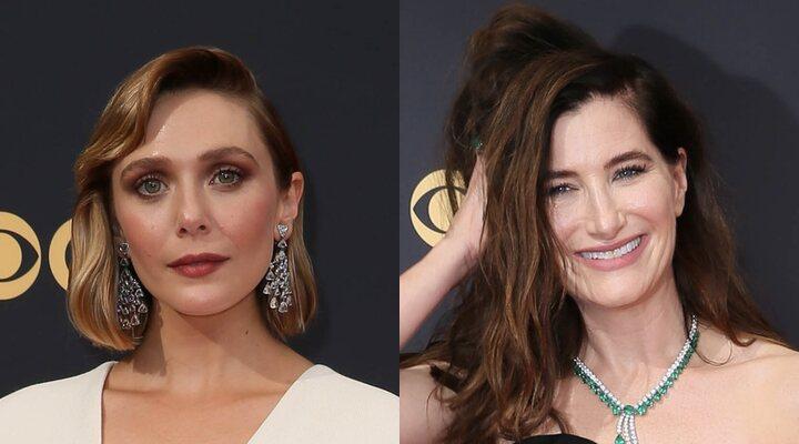 Elizabeth Olsen y Kathryn Hahn en los Emmy 2021