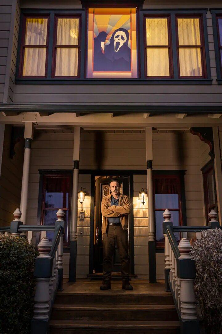 David Arquette en la casa de 'Scream'