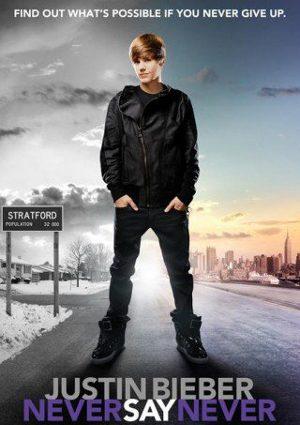 Cartel de Justin Bieber en Never say never