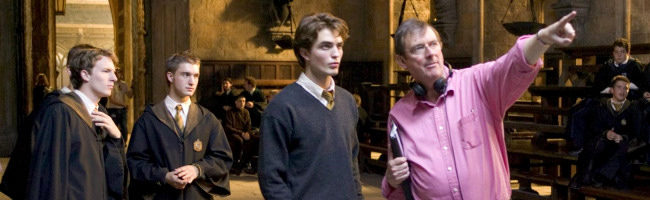 Mike Newell y Robert Pattinson en Harry Potter y el caliz de fuego