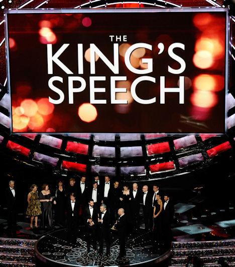 Elenco de El Discurso del Rey en los Oscar 2011