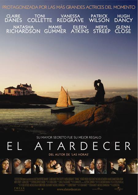Cartel en español de 'El atardecer'