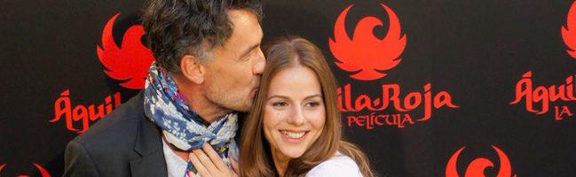Francis Lorenzo y Miryam Gallego en la rueda de prensa de Aguila Roja