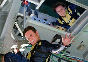 Michael Fassbender y James McAvoy en X-men: Primera generación