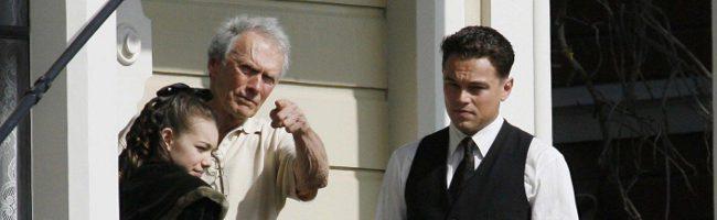 Clint Eastwood y Leonardo DiCaprio en el rodaje de 'J. Edgar'