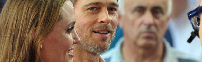 Angelina Jolie y Brad Pitt en Sarajevo