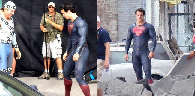 Más imágenes de Henry Cavill con el traje de 'Superman'