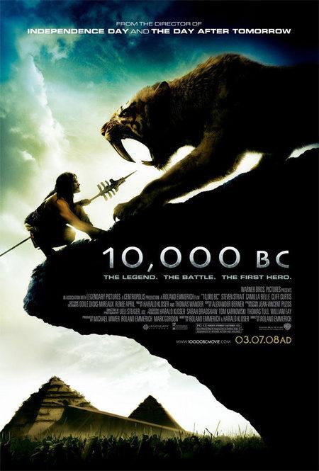 Impresionante cartel de '10.000 BC'