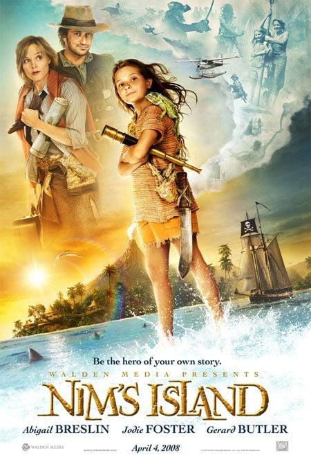 Primer cartel de 'La isla de Nim'
