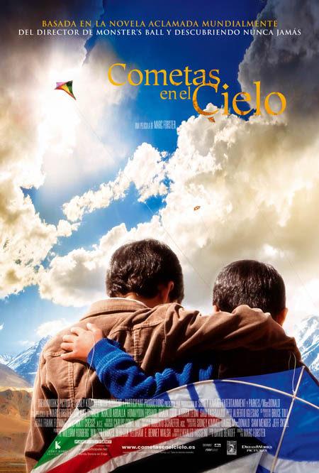 Cartel en castellano de 'Cometas en el cielo'