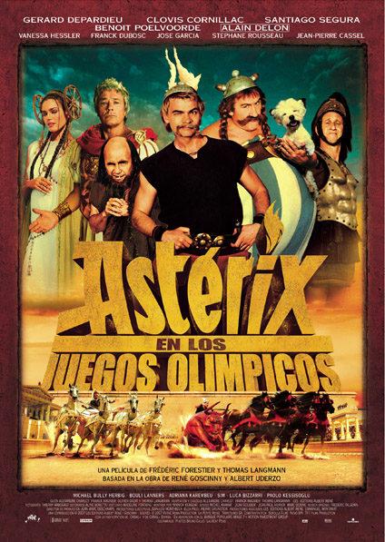 Cartel en español de 'Asterix en los Juegos Olímpicos'