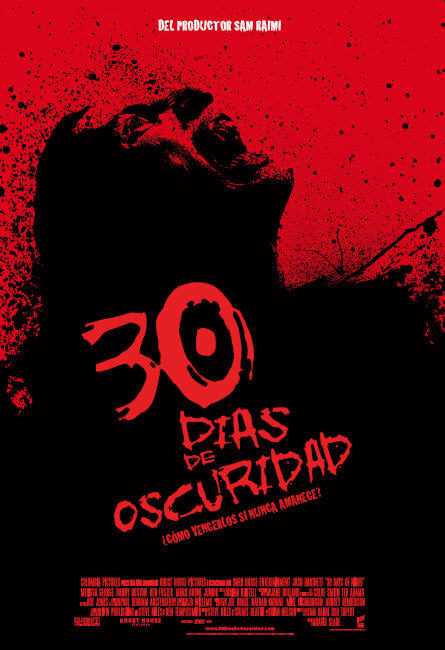 Cartel en castellano de '30 días de oscuridad'