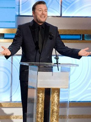 Ricky Gervais en los Globos de Oro