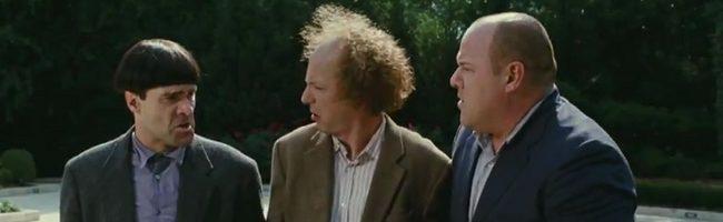 Sean Hayes, Chris Diamantopoulos y Will Sasso como 'Los tres chiflados'