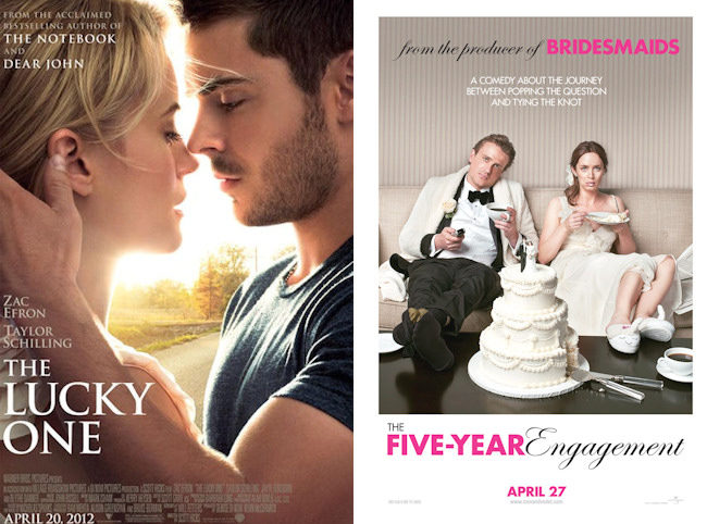The lucky one y The five year engagement