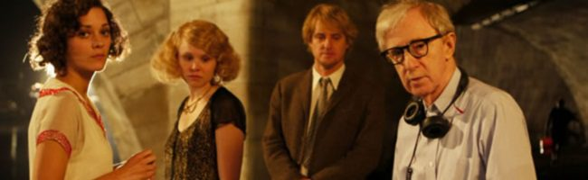 Woody Allen rodando Midnight in Paris