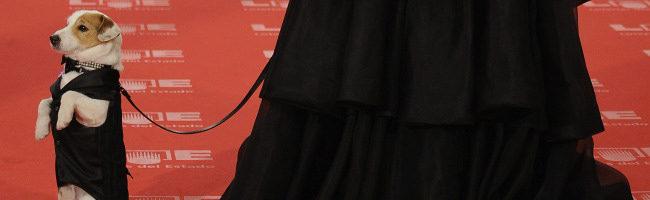 Pancho en la alfombra roja de los Goya 2011
