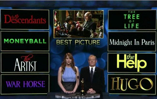 Nominadas a Mejor pelicula de los Oscar 2012
