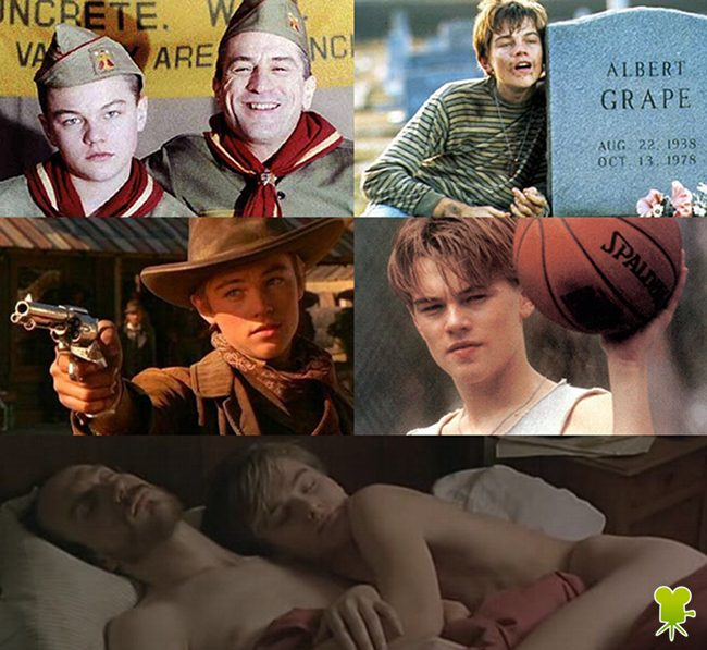 Leonardo DiCaprio en Vidas al límite, Diario de un rebelde, ¿A quién ama Gilbert Garpe?, Vida de este chico y Rápida y mortal