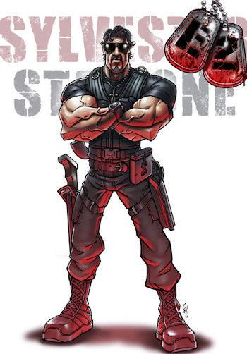 Sylvester Stallone en Los mercenarios 2