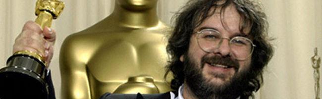 Peter Jackson con el Oscar