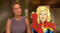 Brie Larson hablando sobre Captain Marvel en 2015