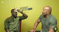 Kevin Hart and Dwayne Johnson play 'Heads Up!' with us