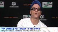 Jean-Claude Van Damme abandona enfadado una entrevista