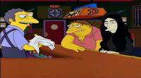 'Los Simpson' Yoko Ono en la tarbena de Mou
