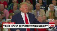 Donald Trump se burla de un periodista discapacitado