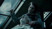 'Sweeney Todd' - Johnny Depp y Alan Rickman en la barbería