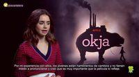 Entrevista Lily Collins ('Okja')