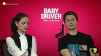 Ansel Elgort and Eiza González ('Baby Driver') interview
