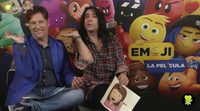 Los protagonistas de 'Emoji: La película' se enfrentan al emoji challenge