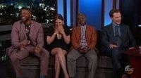 Los Vengadores cuentan spoilers reales en el show de Jimmy Kimmel
