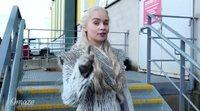 Emilia Clarke en el rodaje de 'Juego de Tronos' para Omaze