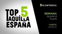 Top 5 Taquilla España del 29 de junio al 1 de julio