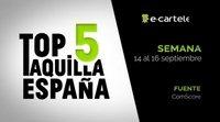 Top 5 Taquilla España del 14 al 16 de septiembre