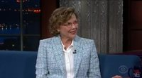 Annette Bening reveals de identity of her charactor for 'Captain Marvel' on The Late Show with Stephen Colbert