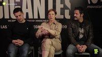 Isak Férriz, Elisabet Elisabet Gelabert y Carlos Librado comparten sus anécdotas del rodaje de 'Gigantes'