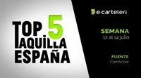 Top 5 Taquilla España del 12 al 14 de julio