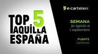 Top 5 Taquilla España del 30 de agosto al 1 de septiembre