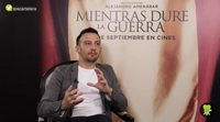 """Alejandro Amenábar: """"Me he empeñado personalmente en que el cartel de 'Mientras dure la guerra' sea la bandera"""""""