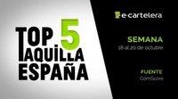Top 5 taquilla España 18-20 octubre 2019